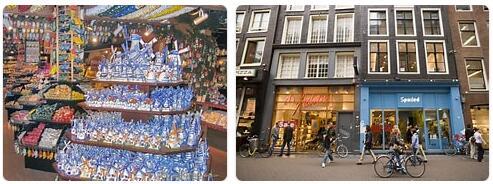 Shopping in Amsterdam, Netherlands