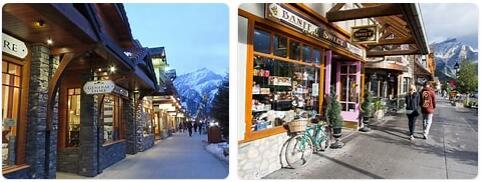 Shopping in Banff, Canada