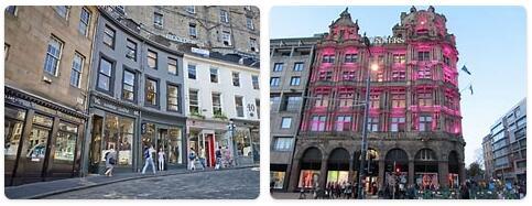 Shopping in Edinburgh, United Kingdom