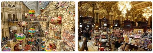 Shopping in Moscow, Russia