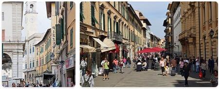 Shopping in Pisa, Italy
