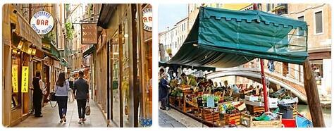 Shopping in Venice, Italy